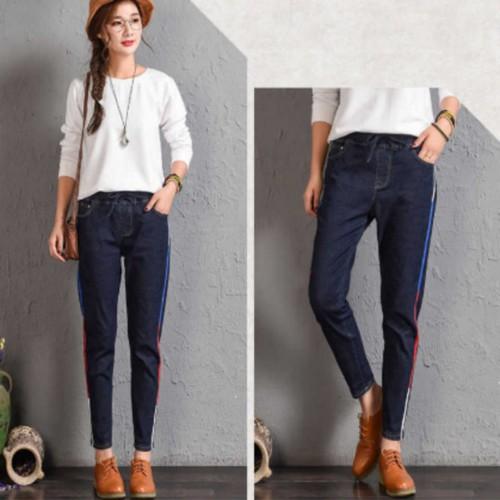 quần jeans dài viền màu Mã: QD2035