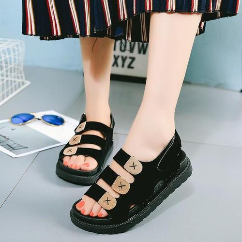 Sandal 3 quai ngang đế khâu