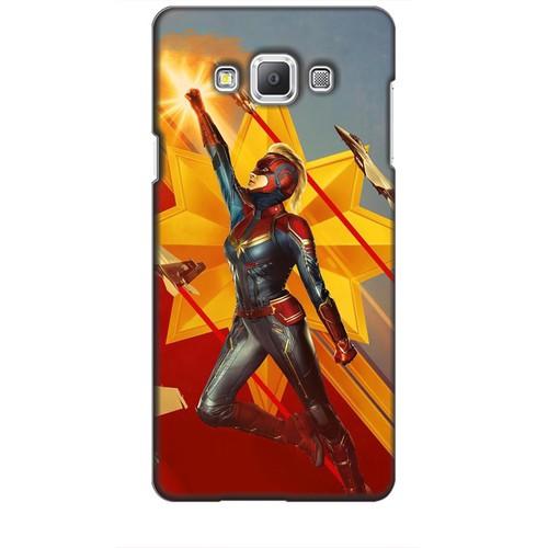 Ốp lưng nhựa dẻo dành cho Samsung Galaxy A7 Hình Captain Marvel Mẫu 7