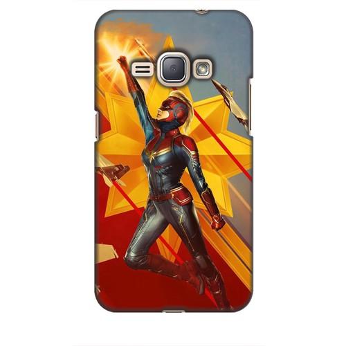 Ốp lưng nhựa dẻo dành cho Samsung Galaxy J1 2016 Hình Captain Marvel Mẫu 7