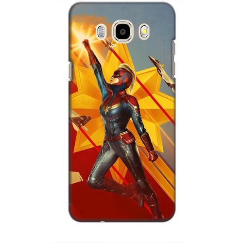Ốp lưng nhựa dẻo dành cho Samsung Galaxy J5 2016 Hình Captain Marvel Mẫu 7