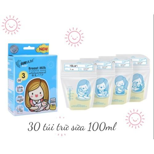 Hộp 30 túi trữ sữa Sunmum 100ml - 4756495 , 16735623 , 15_16735623 , 80000 , Hop-30-tui-tru-sua-Sunmum-100ml-15_16735623 , sendo.vn , Hộp 30 túi trữ sữa Sunmum 100ml