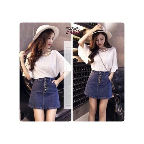 Chân váy jean nữ dễ thương - 6716157 , 16739932 , 15_16739932 , 115000 , Chan-vay-jean-nu-de-thuong-15_16739932 , sendo.vn , Chân váy jean nữ dễ thương