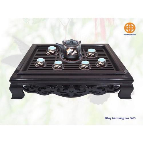Khay trà vuông nhựa giả gỗ Việt Nhật