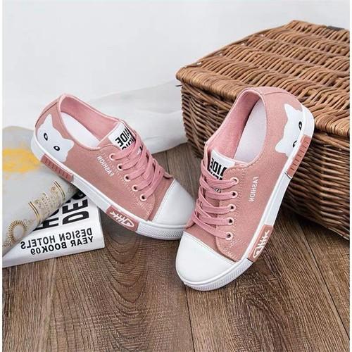 Giày sneaker nữ cổ thấp Mèo xinh siêu hot - 6707938 , 16734038 , 15_16734038 , 265000 , Giay-sneaker-nu-co-thap-Meo-xinh-sieu-hot-15_16734038 , sendo.vn , Giày sneaker nữ cổ thấp Mèo xinh siêu hot