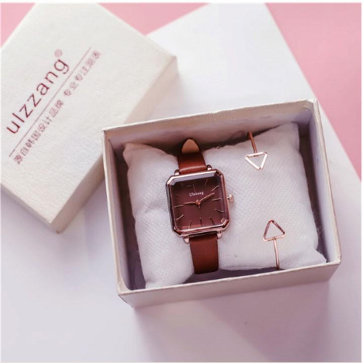 Đồng hồ nữ-Đồng hồ nữ dây da 4