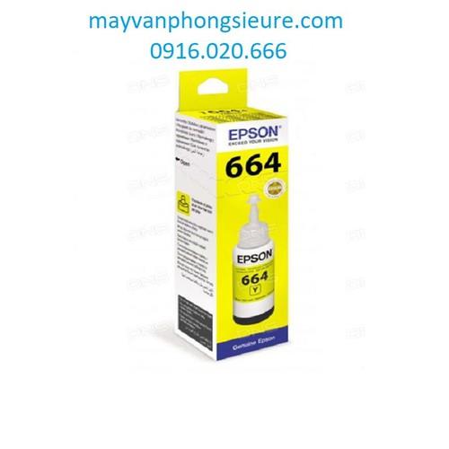Mực in phun màu EPSON T664 Vàng - Chính hãng
