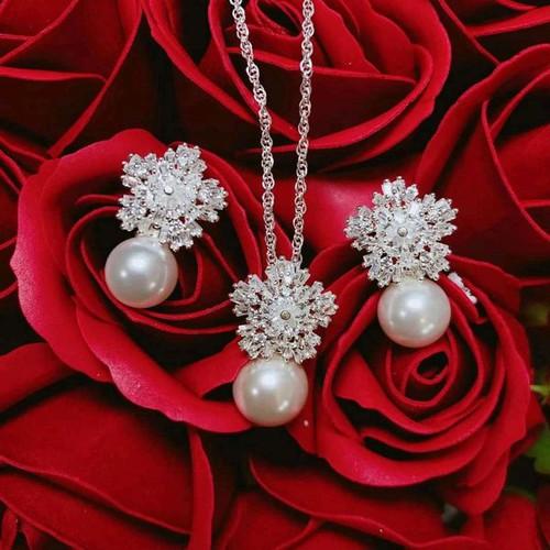 Bộ trang sức bạc Italy
