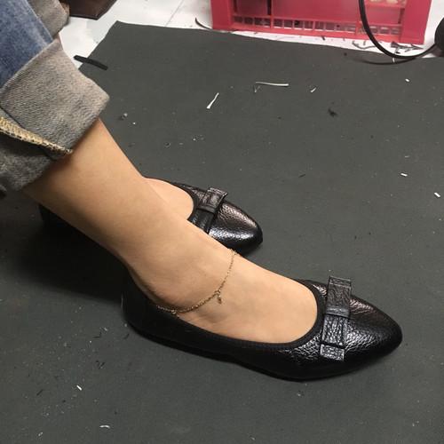Giày nữ da thật, giày da nữ, giày nữ đế bệt