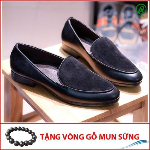 Giày Lười Nam Đẹp Đế Khâu Viền Da Trơn Mặt Giày Da Búc Màu Đen Rất Sang Trọng - M430|16319