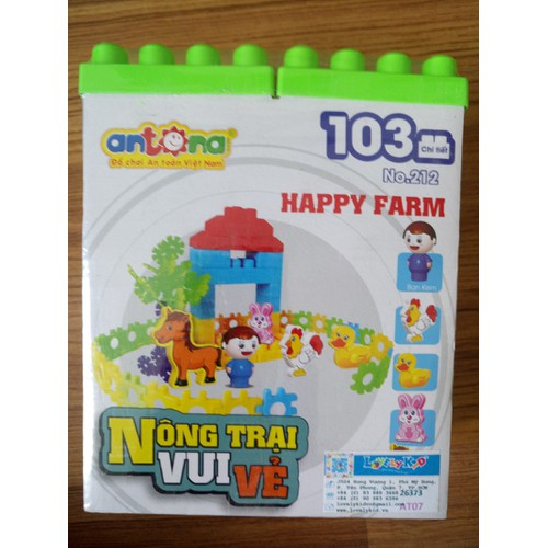 Ráp hình Nông trại vui vẻ ANTONA 103 chi tiết