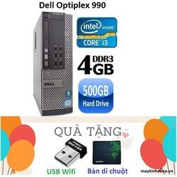 Máy tính Đồng Bộ Dell Optiplex 990 Core i3 2100 , Ram 4G , HDD 500G - Tặng USB Wifi , Bàn di chuột , Bảo hành 24 tháng