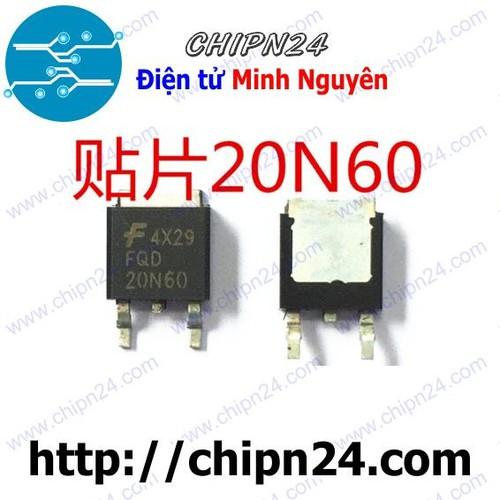 MOSFET 20N60 TO-252 20A 600V Kênh N [SMD Dán] - 6717705 , 16740907 , 15_16740907 , 20000 , MOSFET-20N60-TO-252-20A-600V-Kenh-N-SMD-Dan-15_16740907 , sendo.vn , MOSFET 20N60 TO-252 20A 600V Kênh N [SMD Dán]
