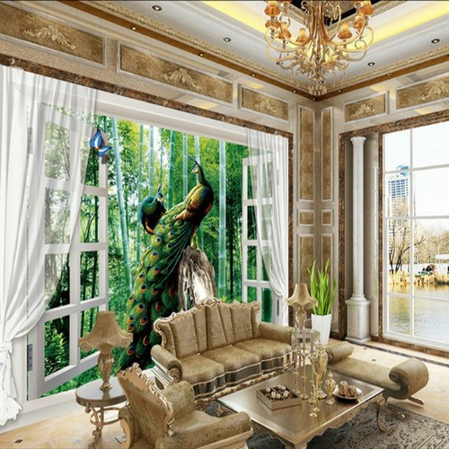 Tranh dán tường cửa sổ 120x180cm TDT195