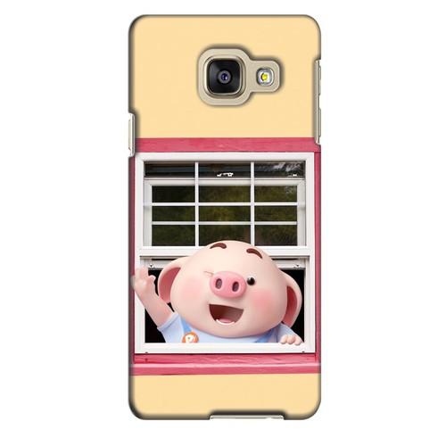 Ốp lưng nhựa dẻo dành cho Samsung Galaxy A3 2016 in hình Heo Con Chào Ngày Mới