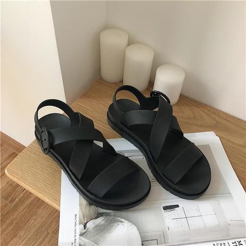 Dép sandal nữ chun chéo siêu mềm - giày sandal nữ, sandal nữ đi học, sandal ulzzang, sandal đế bằng, giày sandal nữ, sandal nữ hàn quốc, sandal đế bánh mì, sandal nữ 3 quai, sandal nữ phong cách hàn q