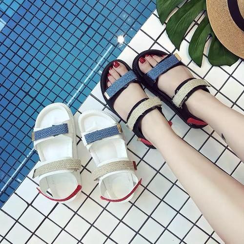 Sandal quai ngang 3 màu - dép sandal nữ,giày sandal nữ,sandal nữ đi học,sandal nữ hàn quốc,sandal nữ đế bánh mì,sandal nữ quai ngang,sandal nữ đế bằng,sandal nữ đế bệt,sandal nữ 3 quai,sandal ulzzang
