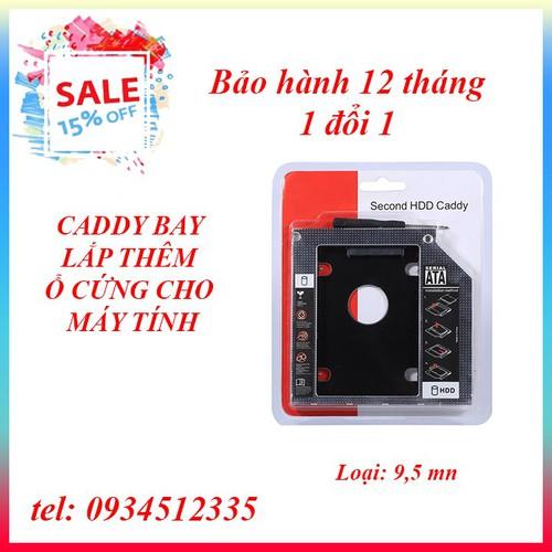 Caddybay mỏng 9.5mm cho laptop - Dual ổ cứng cho laptop