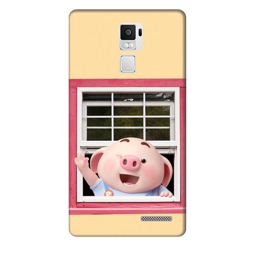 Ốp lưng nhựa dẻo dành cho Oppo R7 Plus in hình Heo Con Chào Ngày Mới