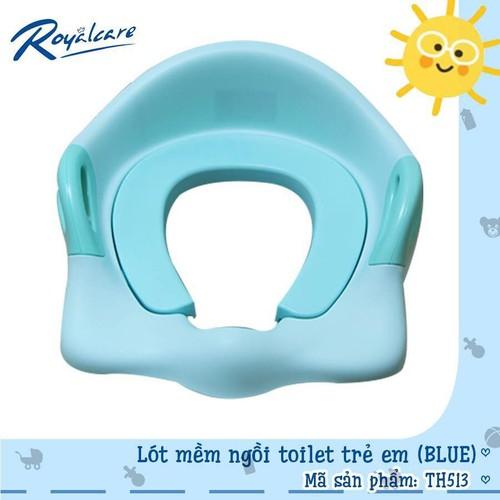 Bệ lót mềm ngồi toilet trẻ em th513 xanh