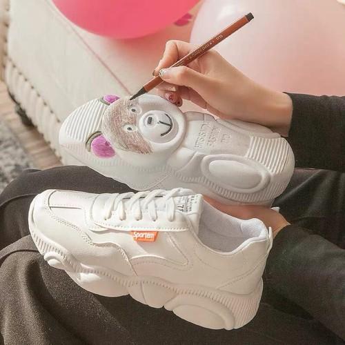 Giày thể thao nữ màu trắng độn đế hình gấu phong cách hàn quốc da mềm chất đẹp giá rẻ mẫu mới thỏa mái thoáng chân thấm mồ hôi khử mùi êm chân tăng chiều cao dễ phối đồ size 35 36 37 38 39 giày nữ già - 4756506 , 16735637 , 15_16735637 , 149000 , Giay-the-thao-nu-mau-trang-don-de-hinh-gau-phong-cach-han-quoc-da-mem-chat-dep-gia-re-mau-moi-thoa-mai-thoang-chan-tham-mo-hoi-khu-mui-em-chan-tang-chieu-cao-de-phoi-do-size-35-36-37-38-39-giay-nu-giay-snea