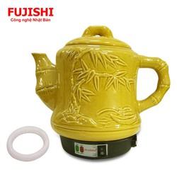Ấm sắc thuốc điện gốm bát tràng Fujishi 3.2 lít HK-33G - Vàng Gold