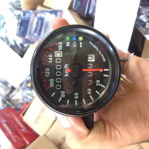 đồng hồ km moto cafe