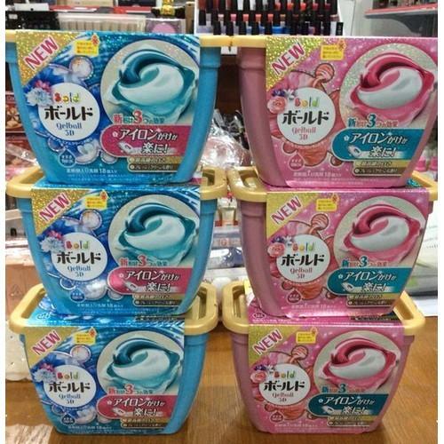 Com bo 3 hộp viên giặt xả gelball 3D Nhật bản chính hãng