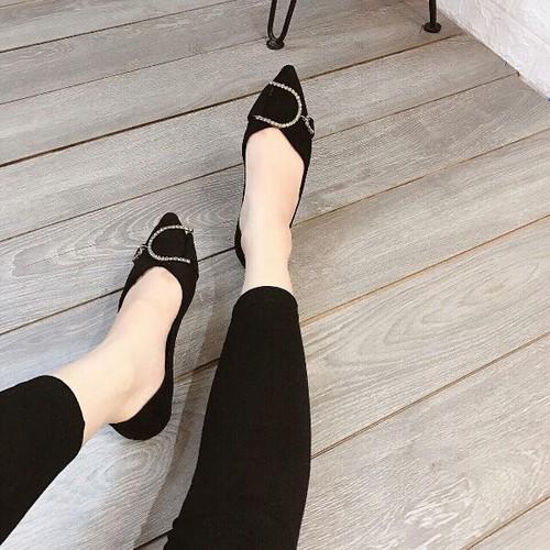 Giày búp bê nữ phối khóa xinh