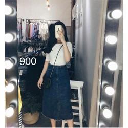 Chân váy jean nữ thời trang