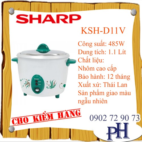 NỒI CƠM ĐIỆN SHARP KSH-D11V