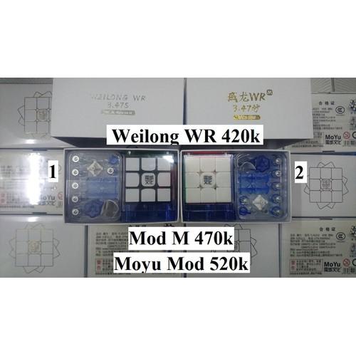 Rubik 3x3x3. Moyu Weilong WR Đen Số 1 Moyu Mod M
