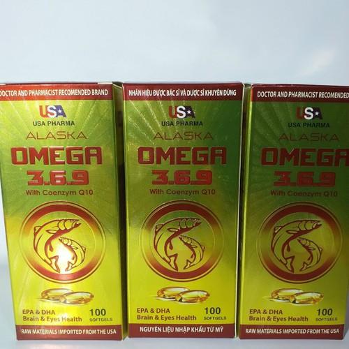 Omega 369 Alaska Coenzym Q10 hộp 100v Nguyên Liệu Nhập Khẩu Từ Mỹ