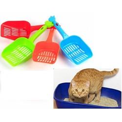 HCM-Xẻng Hót phân mèo - xẻng nhựa xúc cát vệ sinh mèo loại dày