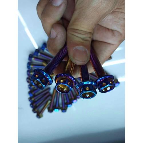 ốc inox xanh titan