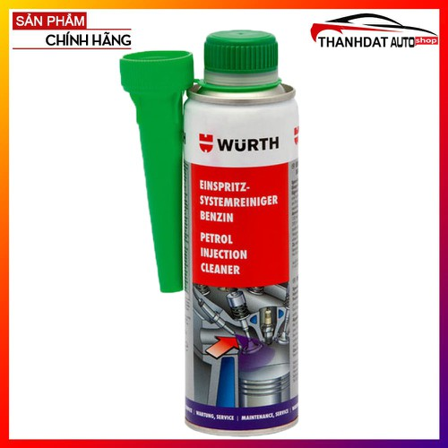 Chai Súc Béc Xăng Wurth Petrol Injection System Cleaner 300ml
