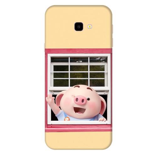 Ốp lưng nhựa dẻo dành cho Samsung GalaxyJ4 Plus in hình Heo Con Chào Ngày Mới