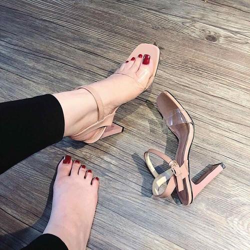 giày sandal cao chốt cao cấp -pll9253