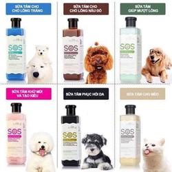 HCM- SOS Hồng - 530ml - Sữa tắm chó - dầu tắm chó