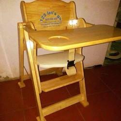ghế ăn dặm gỗ cao cấp cho bé