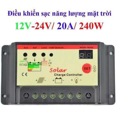 Điều khiển sạc năng lượng mặt trời 20A-12V-240W