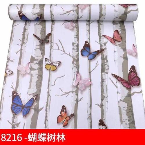 10m Decal giấy dán tường Bướm cây khô keo sẵn khổ 45cm