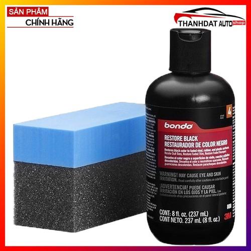 Làm mới nhựa đen sần đã bị bạc màu 3M™ Bondo Restore Black 237ml - 6736016 , 16755255 , 15_16755255 , 379000 , Lam-moi-nhua-den-san-da-bi-bac-mau-3M-Bondo-Restore-Black-237ml-15_16755255 , sendo.vn , Làm mới nhựa đen sần đã bị bạc màu 3M™ Bondo Restore Black 237ml