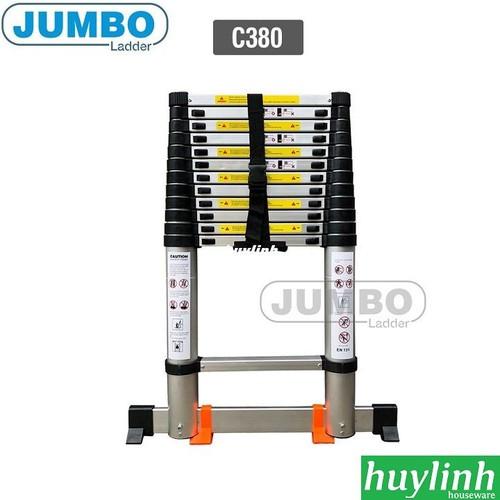 Thang nhôm rút gọn cao cấp Jumbo C380 - 3.8m