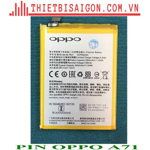 PIN OPPO A71