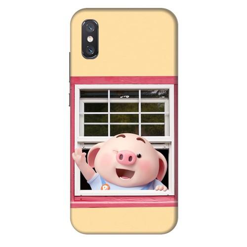 Ốp lưng nhựa dẻo dành cho Xiaomi Mi 8 Pro in hình Heo Con Chào Ngày Mới