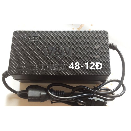 Sạc xe điện V&V 48V-12AH Chân Đặc - 6786472 , 16797152 , 15_16797152 , 160000 , Sac-xe-dien-VV-48V-12AH-Chan-Dac-15_16797152 , sendo.vn , Sạc xe điện V&V 48V-12AH Chân Đặc