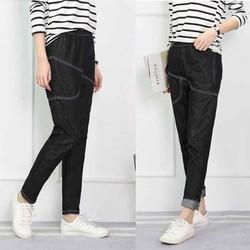 quần jean nữ baggy màu đen big size 75-110kg
