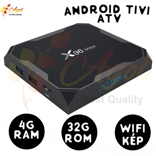 x96 max hệ điều hành ATV 4GB RAM 32G Rom wifi kép android tivi có bluetooth cài sẵn ứng dụng xem phim HD và truyền hình cáp