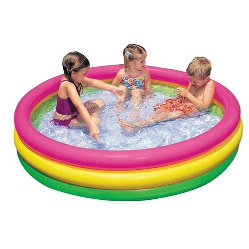 Phao bơi xếp gọn tại nhà giúp bé thoải mái ở nhà vui đùa như ở hồ bơi 25x114 cm